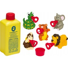 Pustefix Bubbelix Safariwelt + 250 ml Seifenblasenflüssigkeit